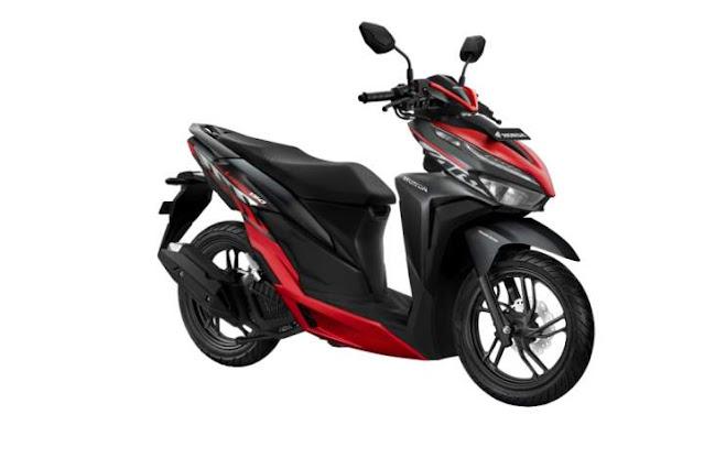 warna baru honda new vario 150 sporty black red