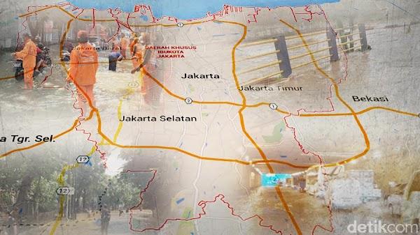 13 Jalan di Jakarta Ini Tak Bisa Dilalui Kendaraan Karena Banjir