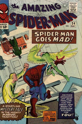 Amazing Spider-Man #24, Spider-Man is haunted by phantoms of his greatest ever foes as he goes mad, Steve Ditko