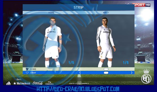 PES 2017 Real Madrid Kit Season 2005-06 HD by Geo_Craig90
