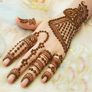 Fingers Mehndi designs pictures and photos