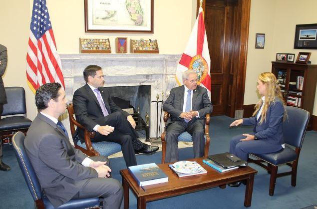 EE.UU:  Carlos Vecchio y Lilian Tintori discutieron con senadores Rubio y Menéndez mecanismos de TPS para venezolanos.