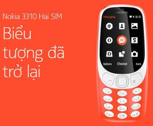 Nokia 3310 Dual sim biểu tượng đã trở lại