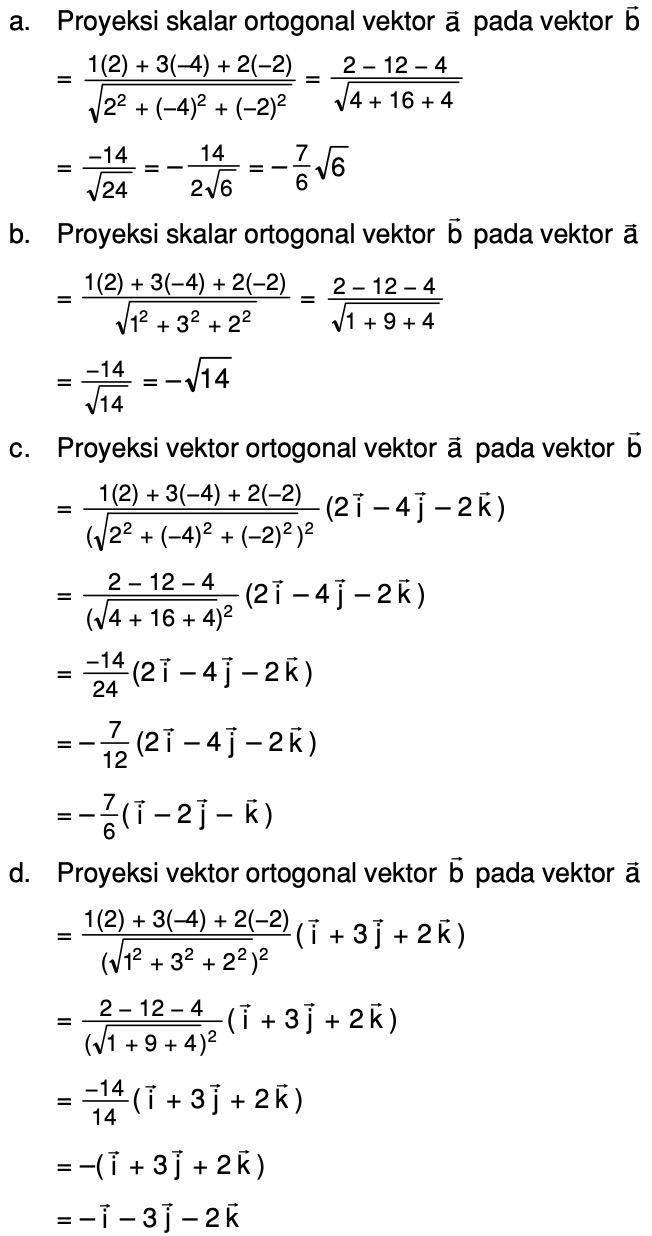 Diketahui Vektor A I 3j 2k Dan B 2i 4j 2k Tentukan