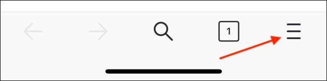 اضغط على زر القائمة من شريط أدوات Firefox