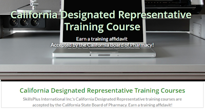 California Designated Representative Training Courses (for wholesaler, 3PL, reverse distributor). Largest selection of Board-approved California Designated Representative online training courses. Earns a training affidavit accepted by the California State Board of Pharmacy.