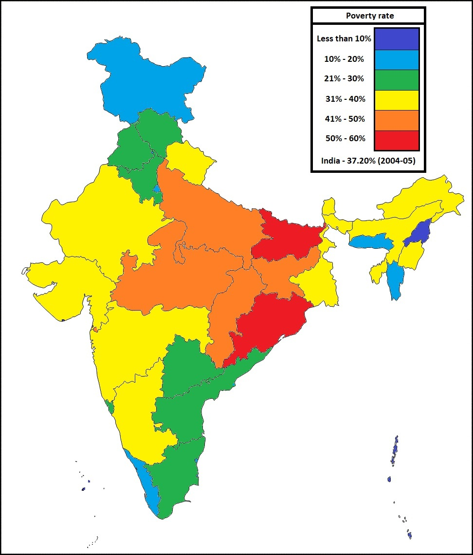now let us see poverty rate in indian states from 2004 to 2011