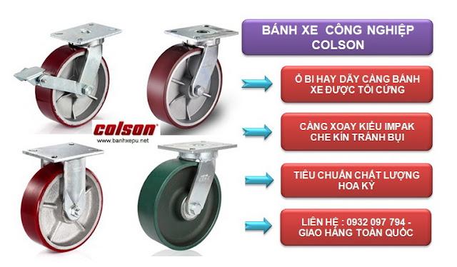 Mua bánh xe đẩy công nghiệp Colson ở Hà Nội www.banhxepu.net