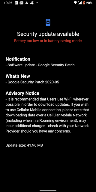 Nokia 3.1 Plus receiving May 2020 Android Security patch