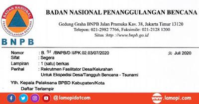 Rekrutmen Fasilitator BNPB