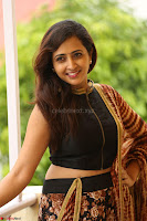 Lasya looks super cute in black choli Saree at Raja Meru Keka Press Meet ~  Exclusive 062.JPG