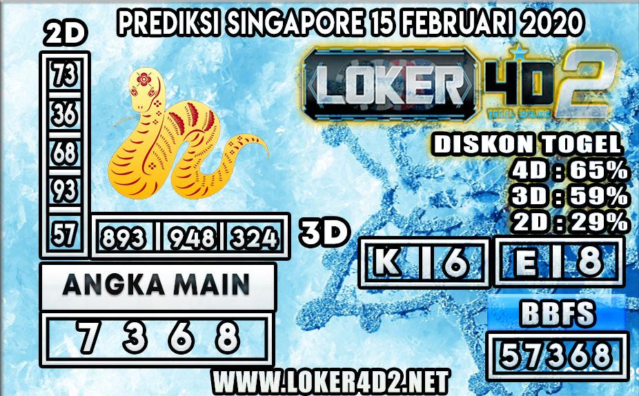 PREDIKSI TOGEL SINGAPORE LOKER4D2 15 FEBRUARI 2020