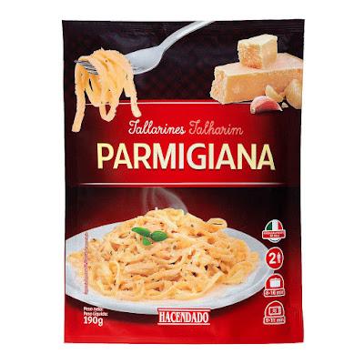 Tallarines a la parmigiana Hacendado