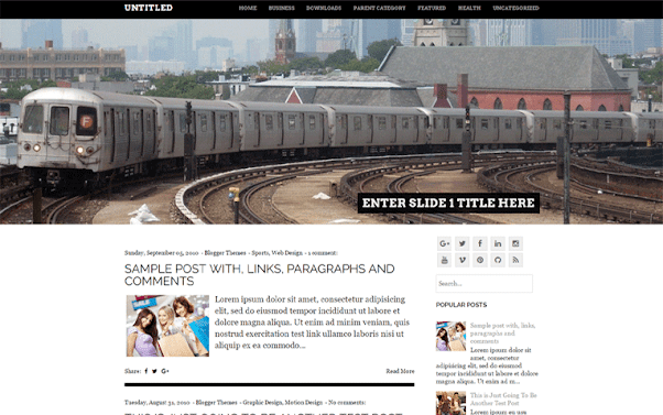 Untitled Free Blogger Template