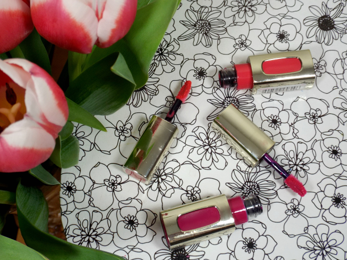 l'oreal, colour riche, l'extraordinaire, liquid lipsticks, 201, 401, rose symphony, fuschia drama