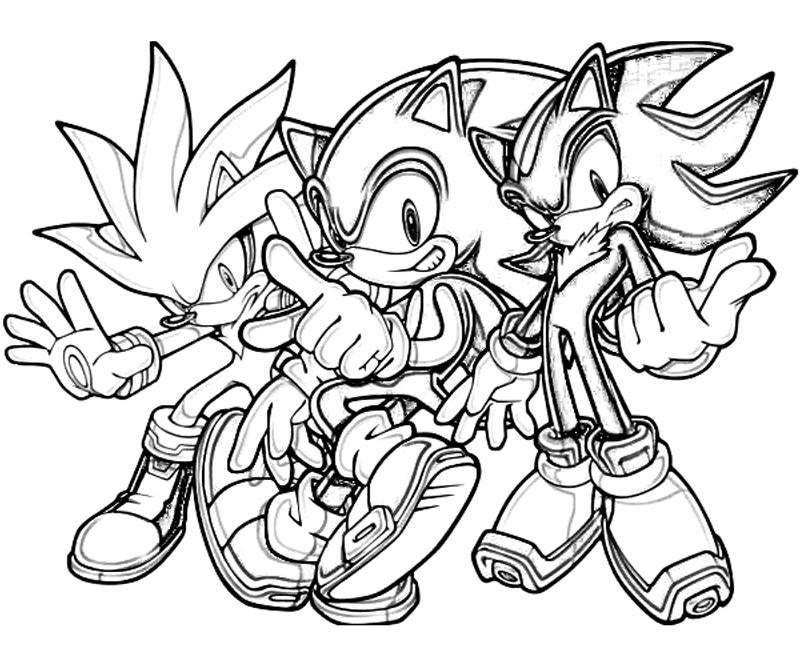 coloring pages sonic the hedgehog | Sonic Generations Silver The Hedgehog Team | Surfing