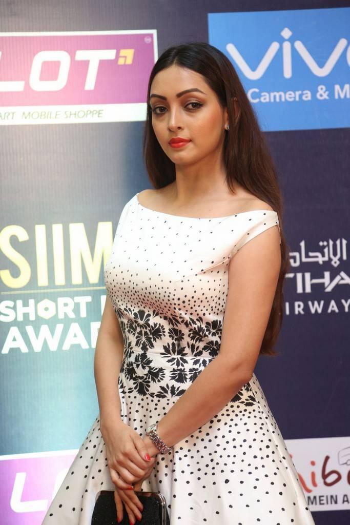 Indian Girl Pooja Salvi Stills At SIIMA Short Film Awards 2017