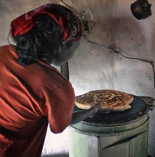 Making bread in West Africa