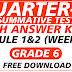 First Summative Test GRADE 6 Q3