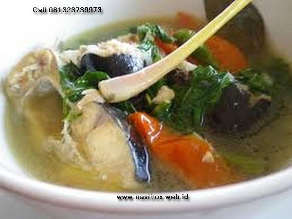 Resep sup asam ikan patin-nasi box cimanggu ciwidey