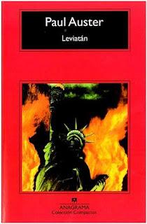 Leviatán de Paul Auster, una reseña del blog de libros palabras en cadena
