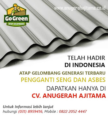Atap Go Green Warna Abu-abu