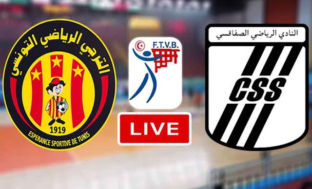 Match ES Tunis - Taraji vs CS Sfaxien volleyball Live Stream