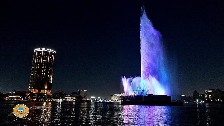 """Egypt .. The return of the """"Nile Fountain"""" to life after a hiatus of 40 years"""