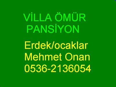 VİLLA ÖMÜR-PANSİYON İRTİBAT