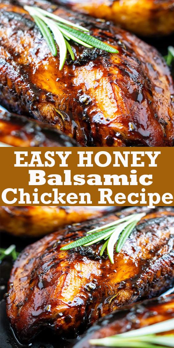Honey Balsamic Chicken Recipe #Honey #Balsamic #Chicken #Recipe