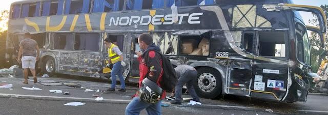 ônibus da Nordeste acidente