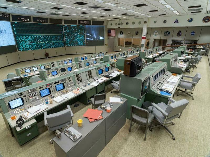 Восстановленный Центр управления полётами миссии «Аполлон».