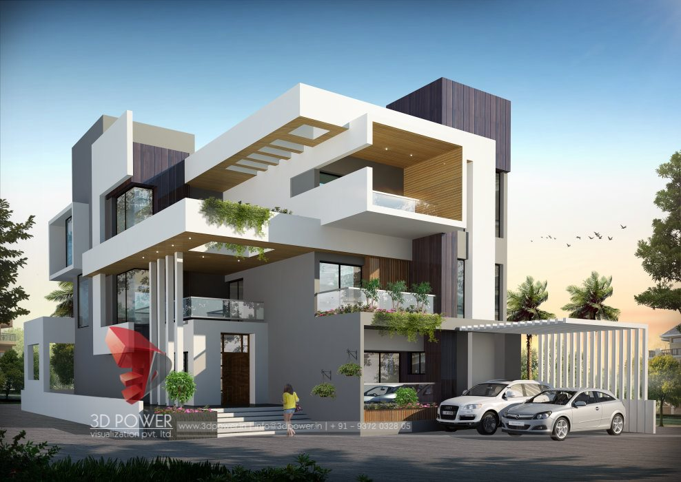Residential towers row houses township designs villa for Www bungalow design