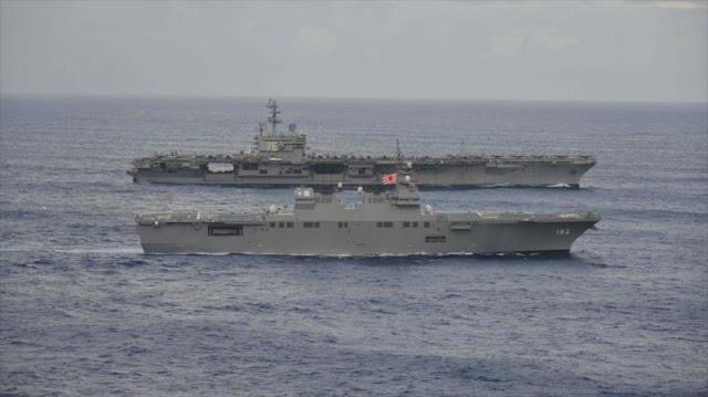 EEUU y Japón realizan maniobras en plena tensión con Pyongyang