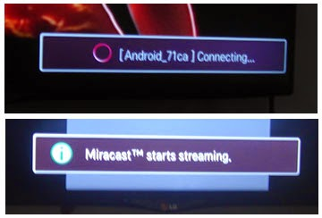 Koneks android dan streaming Miracast