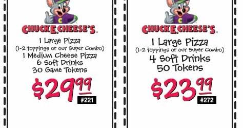 Chuck e cheese mobile coupons