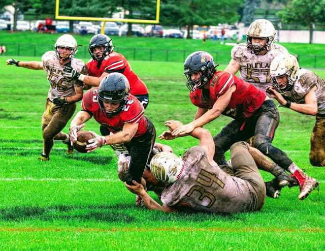 2019-9-28 MTHS Football vs Dunlap 7-10 Loss, Metamora Herald