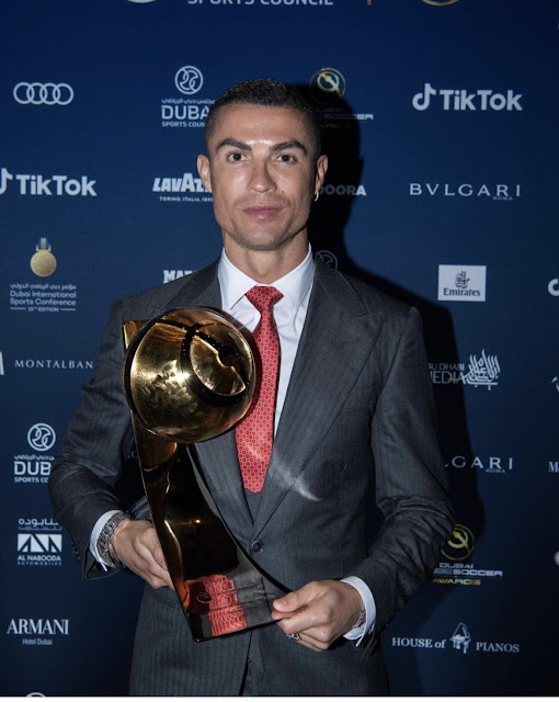 Cristiano Ronaldo: Juventus superstar named 'Player of the Century' at Globe Soccer Awards