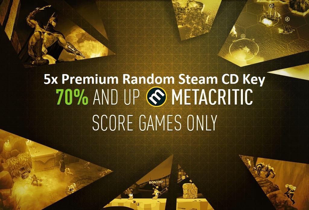 5x Premium Random Steam CD Key Giveaway   code4you tk