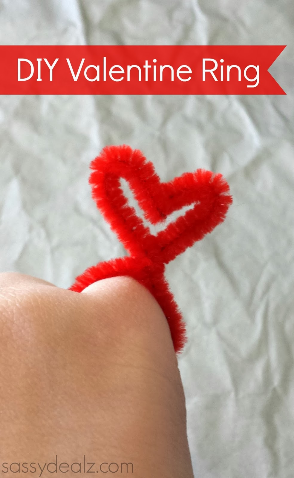 DIY Valentine Heart Rings Made From Pipe Cleaners - Crafty ...