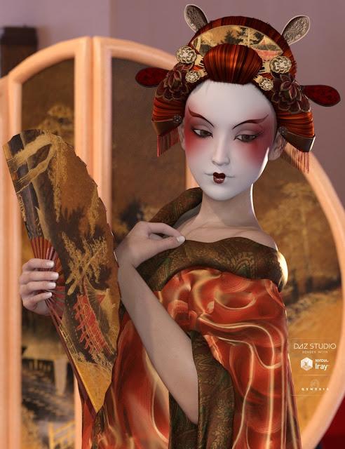 Yuriko Hair Expansion for Genesis 3 Female