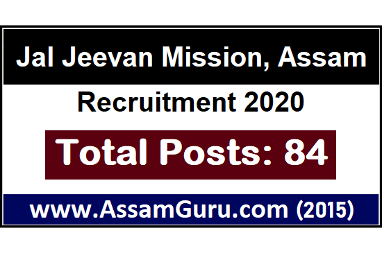 Jal Jeevan Mission, Assam Recruitment 2020