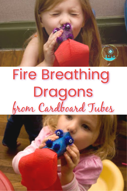 How to Make Fire Breathing Dragons from Cardboard Tubes