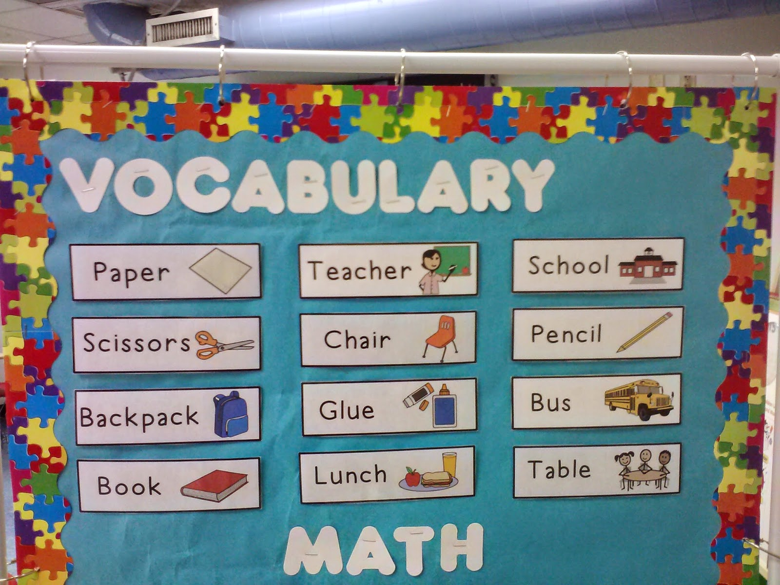 A Special Sunshine Back To School Vocabulary Unit