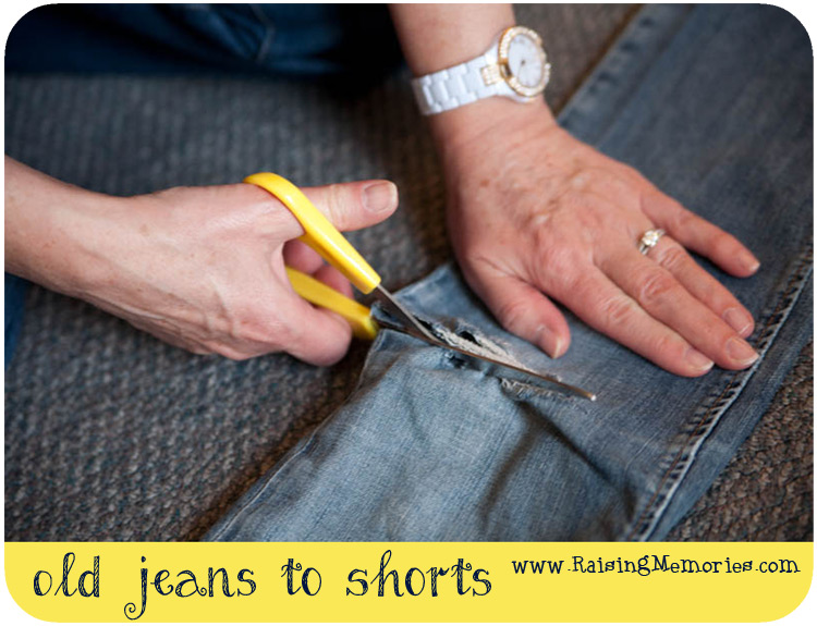 DIY Cut Off Shorts from Holey Jeans