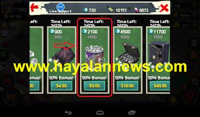 Dapatkan 1400 crystals game clash of mafias gratis dengan cara ini
