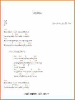 chord terlanjur lagu dangdut ida eliza