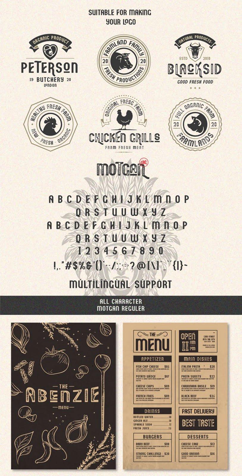 Motgan   Vintage Font 781727 Free