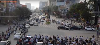 Bike running on roads in  Vietnam
