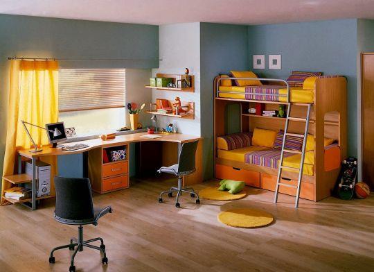 contoh desain meja belajar anak